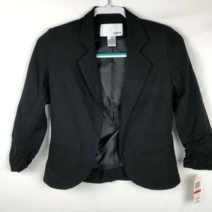 Bar III Blazer Jacket XS Black cropped NEW